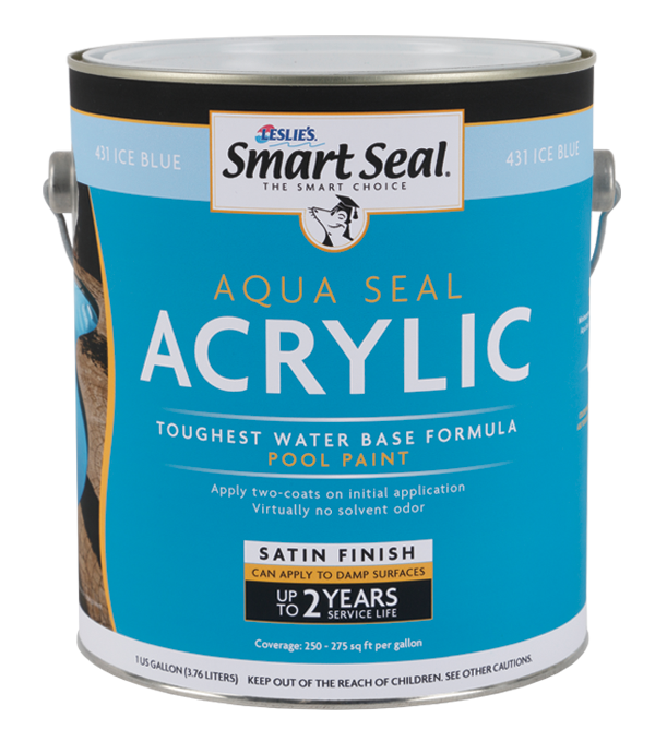 Aqua Seal Acrylic Pool Paint & Enamel Pool Coating: White, Blue, Black